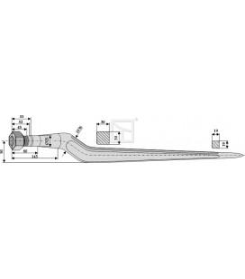 Spjut M24 820mm nr33 Redrock
