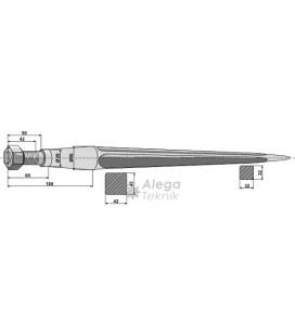 Spjut M28 820 mm nr 36 Kverneland