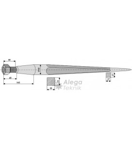 Spjut M28 810 mm nr 21,33 Weidemann Howard Stoll Trima Bressel Hydrac Parmiter