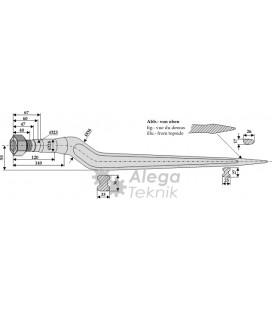 Spjut M22 880 mm Trioliet Vicon