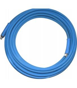 Högtrycksslang Hetvatten blå 45m 400bar 2SC 3/8 3/8inv-3/8utv
