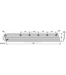 Sidkniv för ensilage urtagare Redrock 830mm vänster
