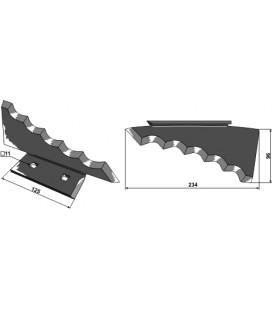 Kniv Foderblandare Keenan hö 234mm Tjocklek 5mm