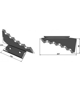 Kniv Foderblandare Keenan hö 207mm Tjocklek 6mm