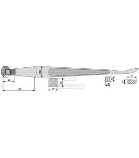 Spjut Skedformat M28 1400mm nr33 Redrock