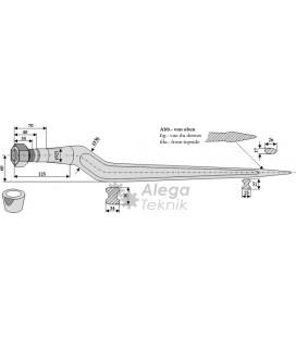 Spjut M22 800 mm Trioliet