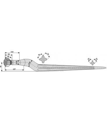 Spjut M22 880 mm Trioliet