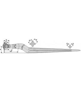 Spjut M20 800 mm Strautmann