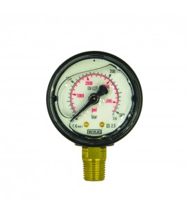 Manometer 25 MPa 63mm 1/4utv