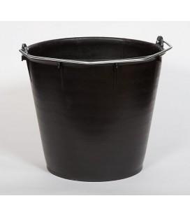 Hink 7l plast, svart