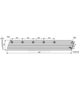 Sidkniv för ensilage urtagare Redrock 830mm höger