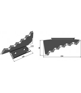 Kniv Foderblandare Keenan vä 234mm Tjocklek 5mm
